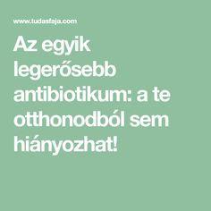 Az egyik legerősebb antibiotikum: a te otthonodból sem hiányozhat! Teas, The Cure, Yoga, Tees, Cup Of Tea, Tea