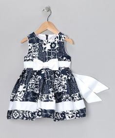 Take a look at this Navy & White Cynthia Dress - Toddler & Girls by Spring Soirée: Girls' Dresses on #zulily today!