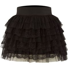 Jolie Moi Lace layered skirt found on Polyvore