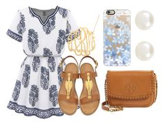 """""""Baby Shower Outfit For Guest"""" by kgarcia8427 ❤ liked on Polyvore featuring Tory Burch, Valentino, Accessorize, Casetify, Summer, outfit, guest and babyshower"""