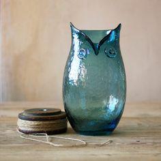 Translucent Owl Vase