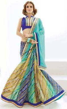Shop for voguish blue saree @ Rs 1520 !!  #Silksaree #PartyWearSaree #sareeshopping #WeddingSarees  #Embroidery