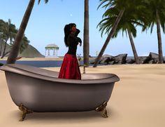 ~~ Lydia-in-Secondlife ~~: Besuch auf meiner Insel und ein Bad mit Extras