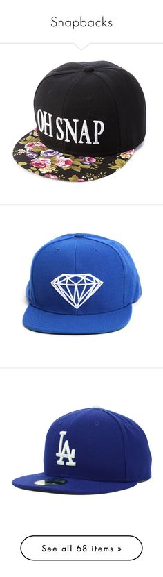 """Snapbacks"" by yaretzi-garcia ❤ liked on Polyvore featuring mens, men's accessories, men's hats, hats, accessories, caps, headwear, teal, snapbacks and cap"