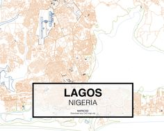 Lagos - Nigeria. Download CAD Map city in dwg ready to use in Autocad. www.mapacad.com Autocad, Making Life Easier, City Maps, School Projects, Maps, Buildings, Cities