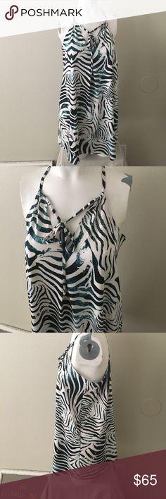 "PilyQ Sundress / swim Coverup size m/L PilyQ bathing suit Coverup women's size m/ L 29"" from shoulder to bottom of dress, Sundress, white, black Turquoise Pilyq Swim Coverups"