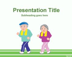 Elderly Athletes PowerPoint template is a free template for athletic and Ederly sports