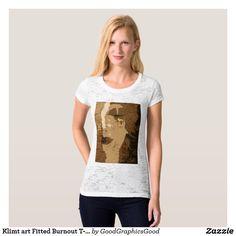 Klimt art Fitted Burnout T-Shirt