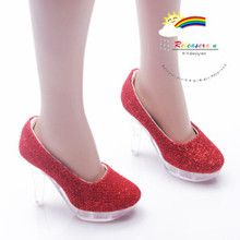 "Clear Pumps Shoes Red for 22"" Tonner American Model"