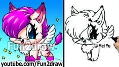 How to Draw a Cat - Fantasy Kitty with Wings - Draw Animals ...