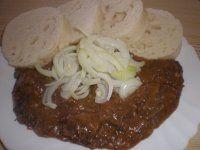 RECEPTY ZVĚŘINA Goulash, Meat Recipes, Baked Potato, Menu, Ethnic Recipes, Menu Board Design, Baked Potatoes, Oven Potatoes, Menu Cards