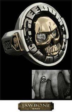 NightRider Jewelry - Jawbone Freedom or Death Ring