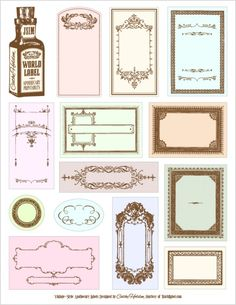 78 different FREE printable Blank Labels