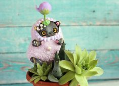 Cat ooak doll cat toy ooak collectible cat fantasy doll ooak kitty doll cute cat toy