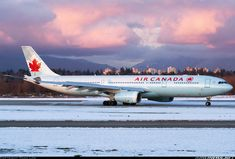 Air Canada Airbus A330-343 C-GFAF on the taxiway at Vancouver-International, January 2009. (Photo: Dana Low)