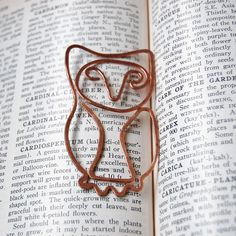 Copper horned owl bookmark hand hammered by TheSalvagedEdge, $15.00