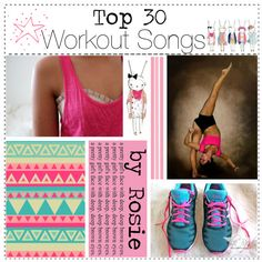 """""""Top 30 Workout Songs"""" by happylittlegreengirltips ❤ liked on Polyvore"""