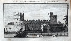 A fine highly detailed little copper engraved antique print entitled THE EAST VIEW OF NAWORTH CASTLE IN THE COUNTY OF CUMBERLAND A lovely little