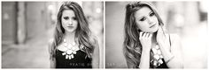 Katie Brock Photography Black and White Senior Pictures Downtown Grand Forks
