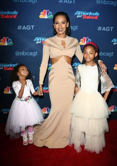 Mel B with daughters Madison and Angel