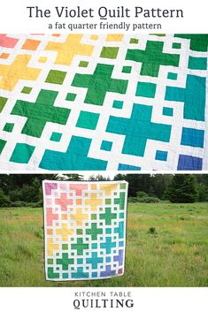 The Violet Quilt Pattern - Kitchen Table Quilting Twin Quilt Pattern, Twin Quilt Size, Pattern Paper, Quilt Patterns, Block Patterns, Quilting Projects, Quilting Designs, Sewing Projects, Quilting Ideas