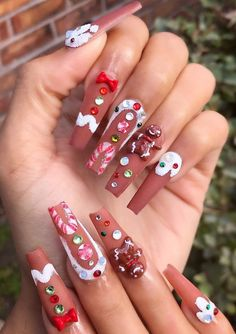 Amazing Christmas coffin nails design with snowflakes, Christmas Snowflakes coffin nails , Acrylic coffin nails design for Christmas,Christmas Nails; Xmas Nails, Holiday Nails, Christmas Nails, Fun Nails, Christmas Snowflakes, Christmas Christmas, Dope Nails, Holiday Nail Designs, Cute Nail Designs