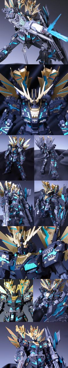 MG 1/100 Unicorn Gundam 02 Banshee Norn Ver.Awakening: Remodeling Work by showzou1974. Photoreview Hi Res Images