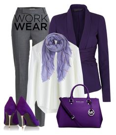 Purple/Grey by alpate on Polyvore featuring Chicwish, Donna Karan, Marc by Marc Jacobs, Nicholas Kirkwood, Michael Kors and Echo