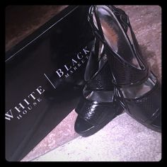 Black House White Market EMERIL heels White House Black Market Strappy sandals. Very cute and comfy dress sandal!  Original sales prices was $88. I purchased for $49.99. On sale now for $38. Decide quick and good luck!!!! White House Black Market Shoes Sandals