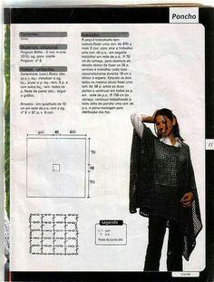 "Schéma ou diagramme pour crochet Modèle ""Poncho"""