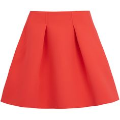 Kenzo Coral Neoprene Tulip Skirt (5.800 CZK) ❤ liked on Polyvore featuring skirts, mini skirts, bottoms, faldas, saias, knife-pleated skirts, coral skirt, neoprene skirt, kenzo and tulip skirt