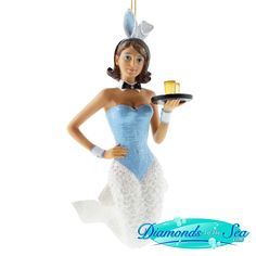 December Diamonds Ms Bunny Mermaid Ornament