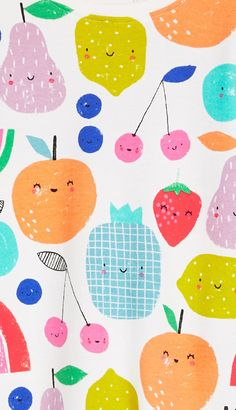 print & pattern: KIDS DESIGN - next part 1 Art And Illustration, Pattern Illustration, Food Illustrations, Flat Design, Web Design, Print Design, Food Patterns, Kids Patterns, Print Patterns