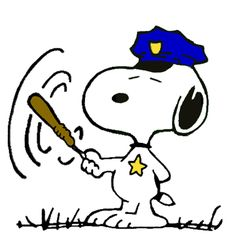 Snoopy as the World Famous Neighborhood Cop