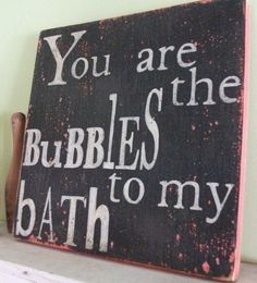Bathroom Wall Art @janetcooper I want to do this!