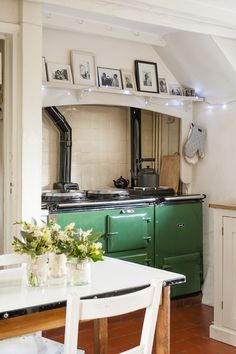 """After a period of wary courtship, she and her new #Aga are now inseparable. """"There were a few Sunday roasts that took five hours but I've finally got the hang of it and wouldn't change it for the world."""" #WTinteriors"""