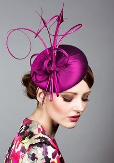Rachel Trevor-Morgan | Silk taffeta pillbox with curled feathers