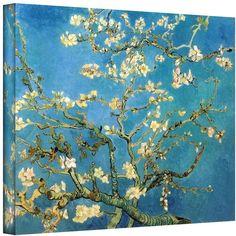 Art Wall 18'' x 24'' ''Almond Blossom'' Canvas Wall Art by Vincent van Gogh