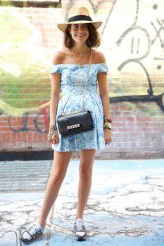 summer dress + New Balance