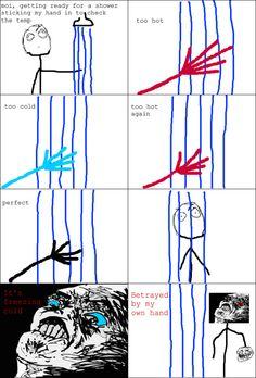 rage comic shower rage