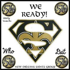 We Ready. New Orleans Saints - pinnervor Saints Gear, Nfl Saints, New Orleans Saints Logo, New Orleans Saints Football, Football Season, Football Team, Who Dat, Dallas Cowboys, Pittsburgh Steelers
