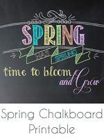 spring chalkboard printable