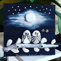 Creative Diy Ideas For Pebble Art Crafts! - Bemalte Steine - Welcome Education Pebble Painting, Pebble Art, Stone Painting, Stone Crafts, Rock Crafts, Arts And Crafts, Art Crafts, Christmas Rock, Christmas Crafts