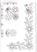 Awesome Most Popular Embroidery Patterns Ideas. Most Popular Embroidery Patterns Ideas. Embroidery Flowers Pattern, Embroidery Transfers, Vintage Embroidery, Ribbon Embroidery, Embroidery Applique, Flower Patterns, Embroidery Stitches, Machine Embroidery, Embroidery Designs
