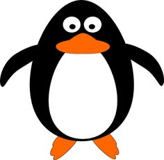 The penguin made with Inkscape