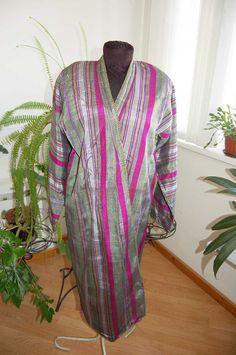 Uzbek men  national handmade bekasab chapan robe