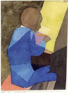 1915, Knabe am Pult by Paul Klee