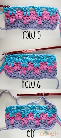 Bees and Appletrees (BLOG): leuk haaksteekje - cute crochetstitch