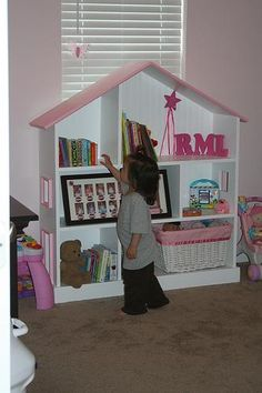 Dollhouse bookcase plans... yet another Ana White plan on my list to build!!