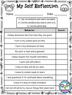 Parent Teacher Conferences: 10 Tips and Tricks by Create-abilities Self-assessments for students to do right before a parent-teacher conference so that parents can see how the students think they are doing. Student Self Evaluation, Student Self Assessment, Student Data, Classroom Behavior, School Classroom, Classroom Management, Classroom Organization, Behavior Management, Student Led Conferences